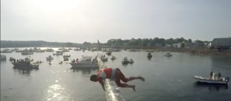 "Gloucester's Greasy Pole Contest Included in ""Bay State Skye"""