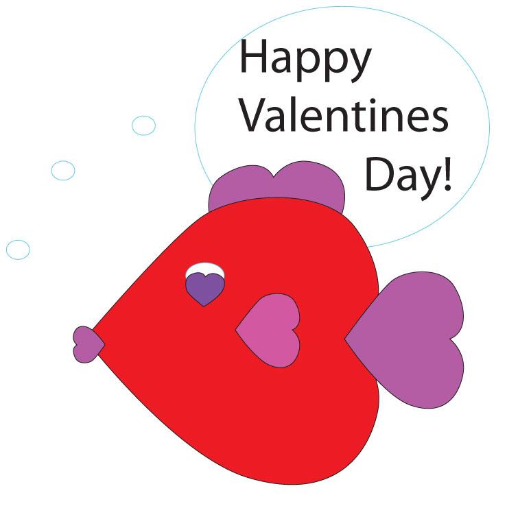 Valentine's Heart Fish